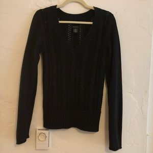Calvin Klein Black Cable Knit Sweater Size Small